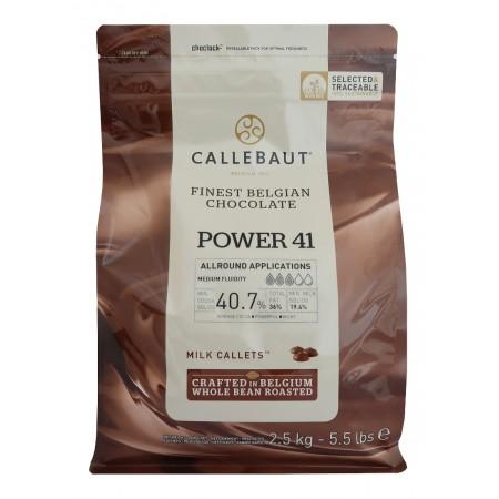 Čokoláda Callebaut mléčná Power 41, 40,7% kakaa, 2,5 kg