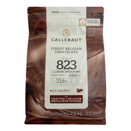 Čokoláda Callebaut mléčná 823NV 33,6% kakaa, 2,5 kg