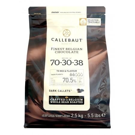 Čokoláda Callebaut hořká 70-30-38 70,5% kakao, 2,5 kg