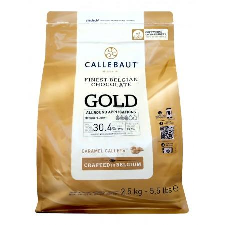 Čokoláda Callebaut zlatá GOLD, 2,5 kg