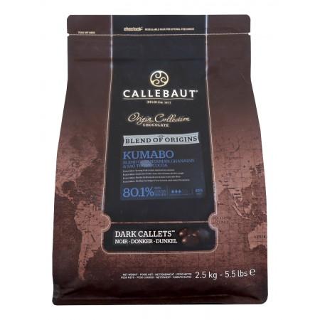 Čokoláda Kumabo, 80,1% kakao, 2,5 kg