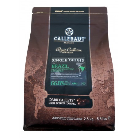 Čokoláda Callebaut Brazil, 66,8% kakao, 2,5 kg