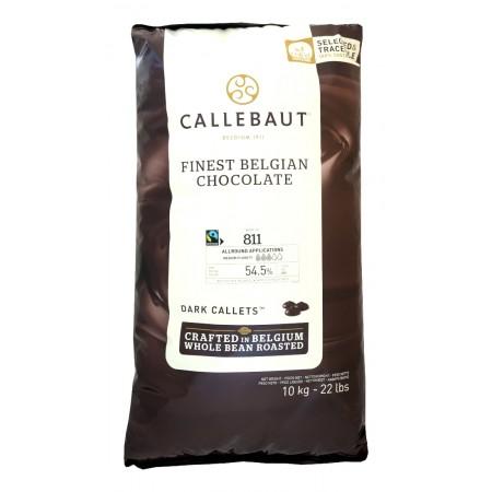 Čokoláda hořká Callebaut Fairtrade 811NV, 54,5 % kakao, 10 kg