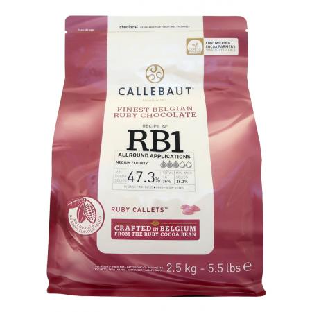 Čokoláda Callebaut červená RUBY 2,5 kg