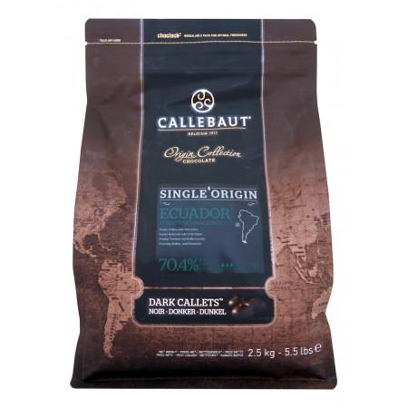 Čokoláda Callebaut Ekvádor 70% kakao, 2,5 kg