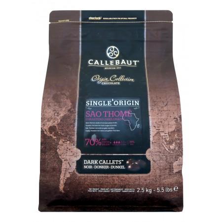 Čokoláda Callebaut Sao Thomé 70% kakao, 2,5 kg