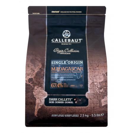 Čokoláda Callebaut Madagaskar 67,4% kakao, 2,5 kg