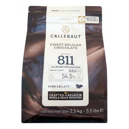Čokoláda Callebaut hořká 811NV 54,5% kakao, 2,5 kg