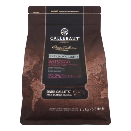 Čokoláda Callebaut Satongo 72,2% kakao, 2,5 kg