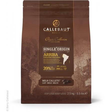 Čokoláda Callebaut Arriba 39% kakao, 2,5 kg