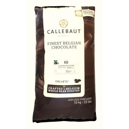 Čokoláda Callebaut mléčná Fairtrade 823NV 33,6 % kakao, 10 kg