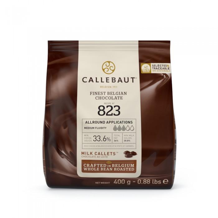 Čokoláda Callebaut mléčná 823NV 33,6% kakaa, 400 g