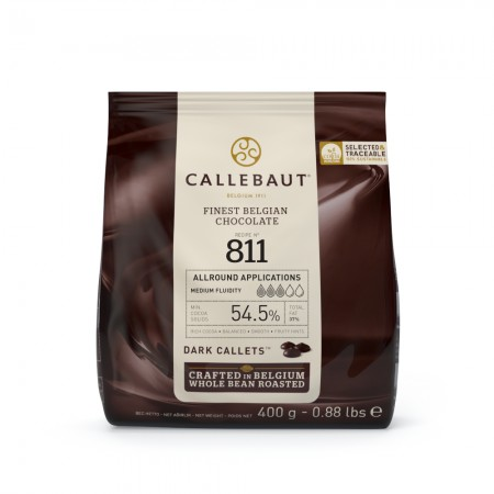 Čokoláda Callebaut hořká 811NV 54,5 % kakao, 400 g