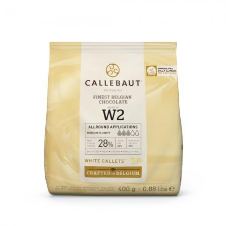 Čokoláda Callebaut bílá W2 400 g