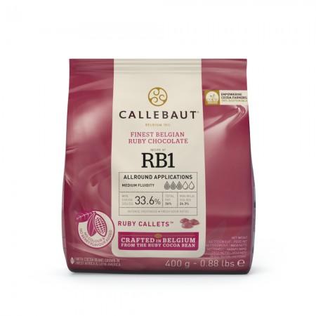 Čokoláda Callebaut červená RUBY 400 g