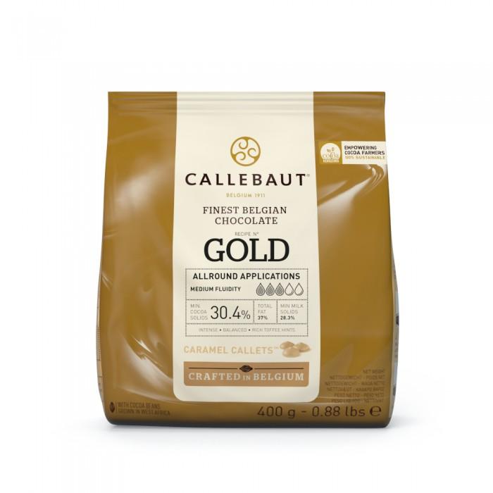 Čokoláda Callebaut zlatá GOLD 400 g